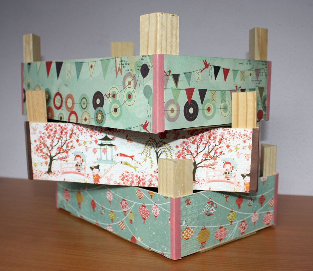 Recycling cajas de fruta on pinterest fruit box - Cajas de fruta decoracion ...